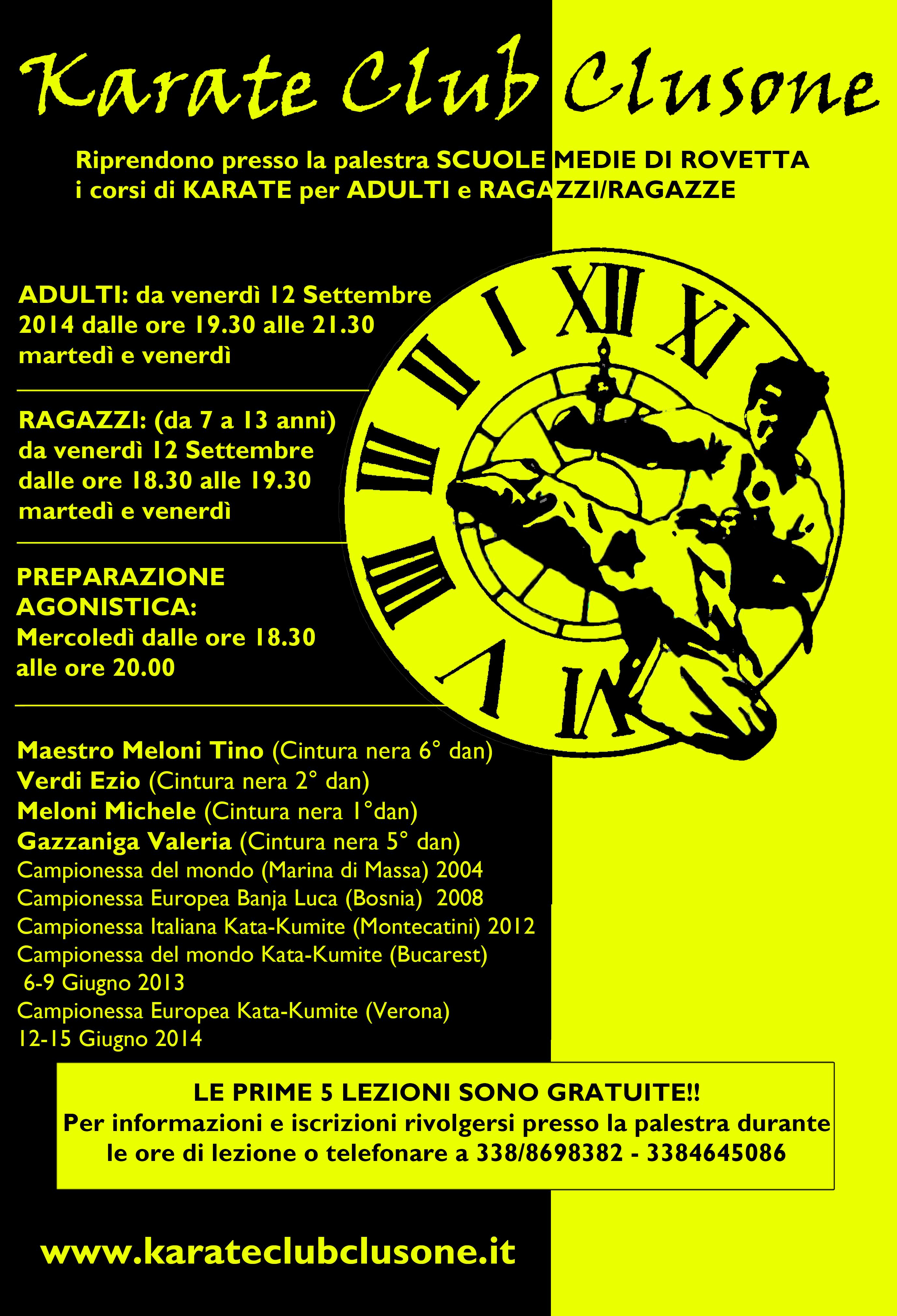 Locandina 2014 Karate Club Clusone